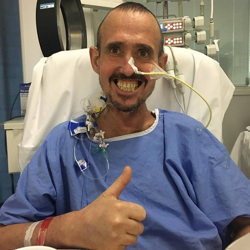 Dave is walking again after lung transplant